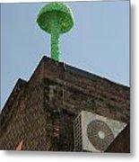 Green Mushroom By Nagel Metal Print