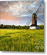Green Ocean ''pitstone Windmill'' Metal Print