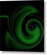 Green On Black 1 Metal Print