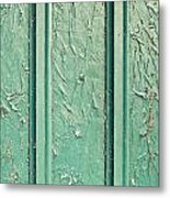 Green Painted Wood Metal Print