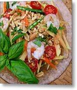 Green Papaya Salad With Shrimp Metal Print