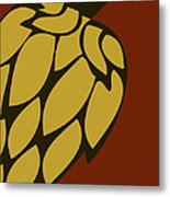 Green Passion Hops Metal Print