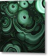 Green Patterns Of Malachite Metal Print