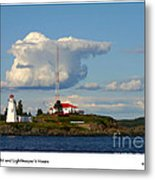 Green Point And Keepers Cottage Metal Print
