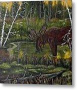 Green Pond Metal Print