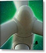 Green Power Metal Print