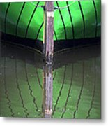Green Reflection Metal Print