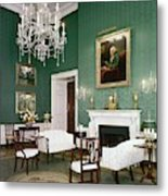 Green Room In The White House Metal Print
