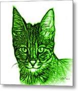 Green Savannah Cat - 5462 F S Metal Print