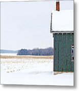 Green Shed Metal Print by Ty Helbach