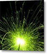 Green Sparkle Metal Print