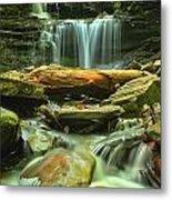 Green Spring Cascades Metal Print