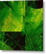 Green Square Abstract Metal Print