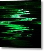 Green Squiggle Metal Print
