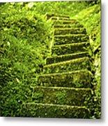 Green Stair Metal Print
