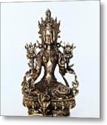 Green Tara Goddess Statue Metal Print