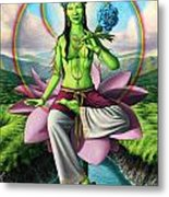 Green Tara Metal Print