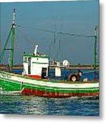 Green Trawler Metal Print