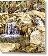 Green Valley Falls Winter Metal Print