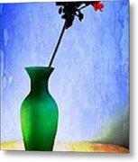 Green Vase 2 Metal Print by Donald Davis