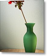Green Vase Metal Print by Donald Davis