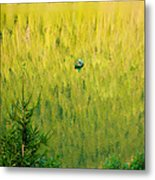 Green Vertigo Metal Print