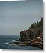 Green Water Blue Sky Metal Print