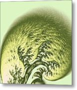 Green Wave Metal Print