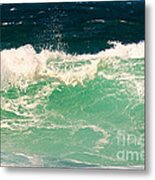 Green Wave Pacific Grove Ca  Metal Print