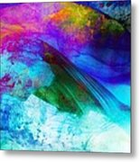 Green Wave - Vibrant Artwork Metal Print