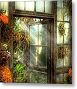 Greenhouse - The Door To Paradise Metal Print by Mike Savad