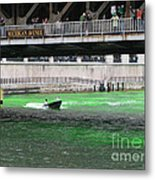 Greening The Chicago River Metal Print