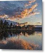Greenlake Autumn Sunset Metal Print
