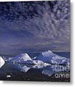 Greenland Midnight Sun Metal Print
