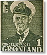 Greenland Stamp Circa 1950 Metal Print
