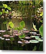 Greens On A Pond 2 Metal Print