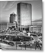 Greensboro Center City Park Bw Metal Print