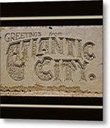 Greetings From Atlantic City Metal Print