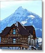 Greetings From Frutigen Metal Print