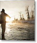 Greg Houska Fly Fishing On The Provo Metal Print