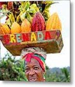 Grenada Spice Woman. Metal Print
