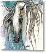 Grey Arabian Horse 2013 11 26 Metal Print