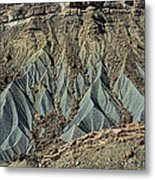 Grey Cliffs In Waterpocket Fold  Metal Print