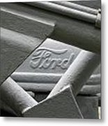 Grey Ford Tractor Logo Metal Print