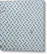 Grey Iron Industrial Floor As Background Metal Print