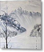 Grey Mountains Metal Print