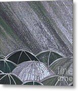 Grey Rain 2 By Jrr Metal Print