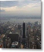 Grey Sky Over Manhattan Metal Print