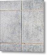 Grey Tiles Metal Print