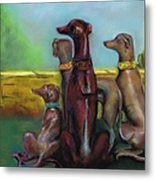 Greyhound Figurines Metal Print